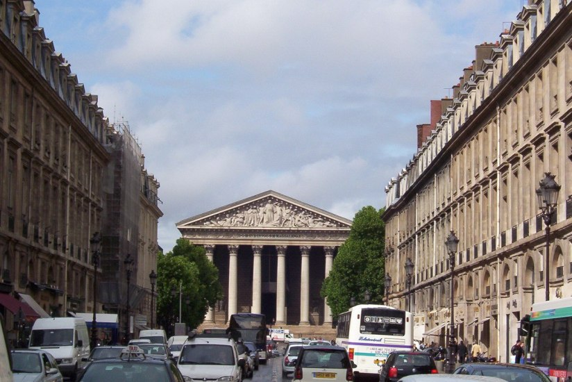 La Madeleine Church at the end of Rue Royale