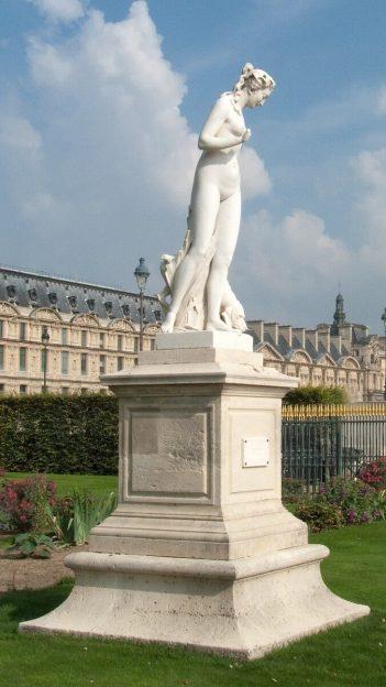 Nymph Statue in the Tuileries Gardens - Paris