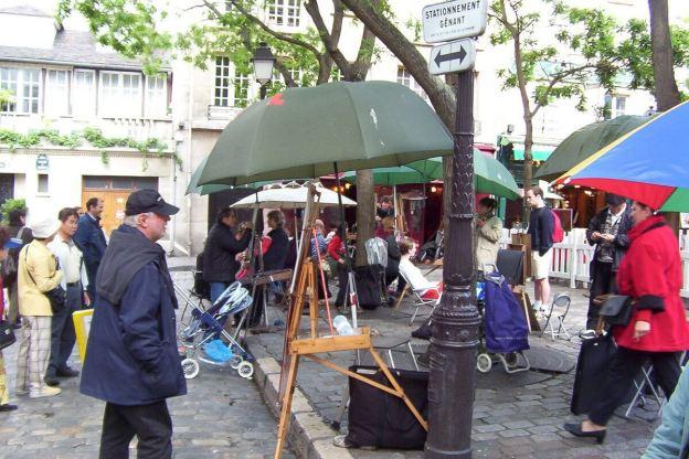 Place de Tertres - painters portraits - Montmartre - Paris