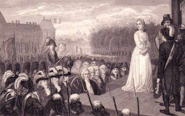 Queen Marie Antoinette before her execution