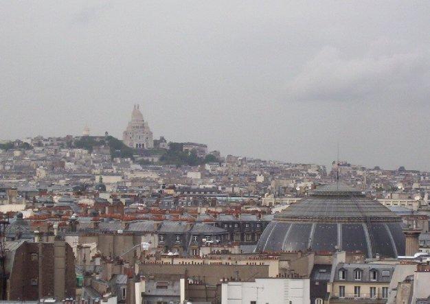 Sacre Coeur - high above Paris - France