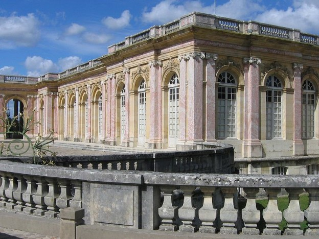 The Grand Trianon Castle - pink exterior walls - Domain of Versailles - France