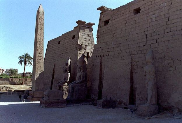 The remaining obelisk at Luxor today
