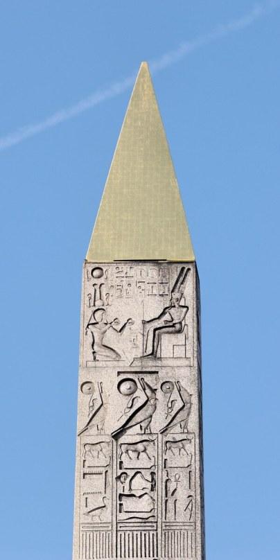 The top of the obelisk - Place de la Concorde - Paris