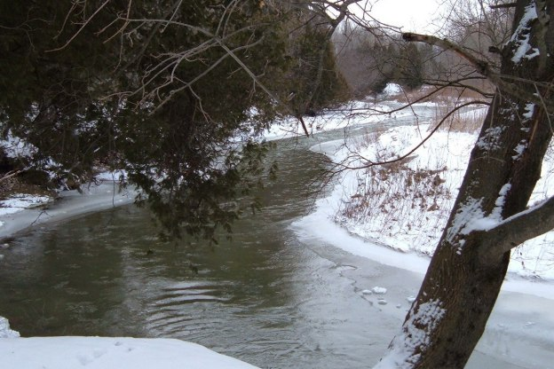 Winter on the Green River - Pickering - Ontario