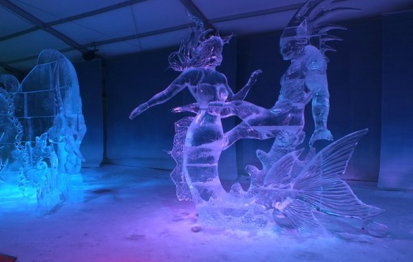 2nd place Ice Sculpture contest