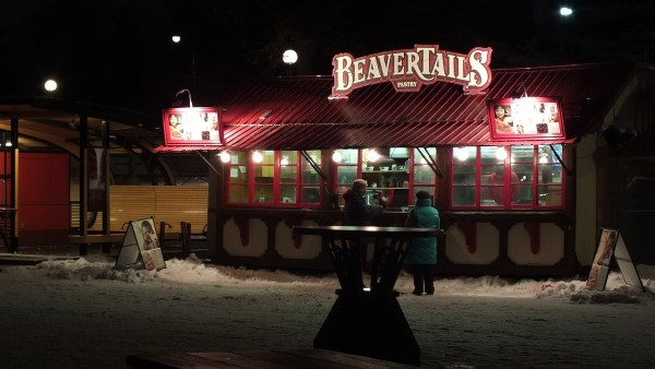 BeaverTails shop on the Rideau Canal - Winterlude - Ottawa