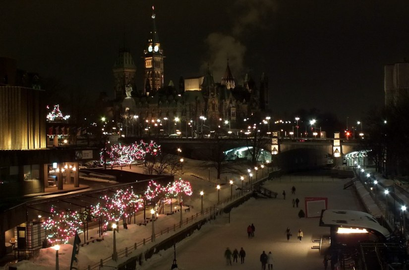 Capital Hill at night - Winterlude - Ottawa