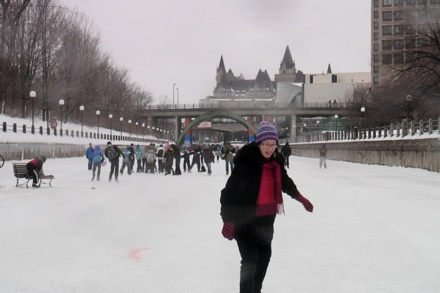 Jean skating on the Rideau Canal in Ottawa, Ontario, Canada