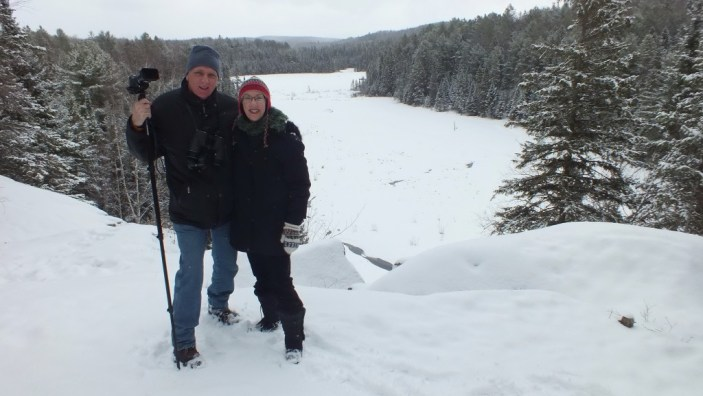Bob and Jean on the Beaver Pond Trail in Algonquin Provincial Park - Ontario
