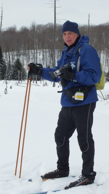 Bob - skiing on beaver pond - Oxtongue Lake - Ontario