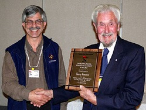 Harry Lumsden receiving award in 2008
