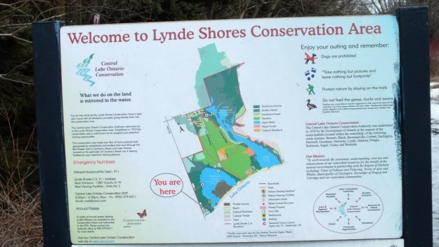 Lynde Shores Conservation Area - Cranberry Marsh - Sign