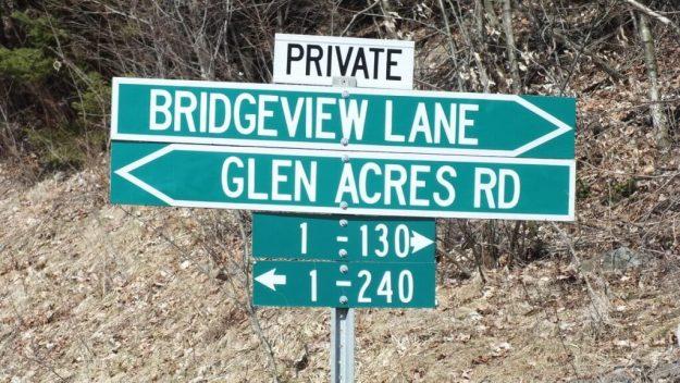 Big East River flood zone - Bridgeview lane - Huntsville, Ontario - April 21 2013
