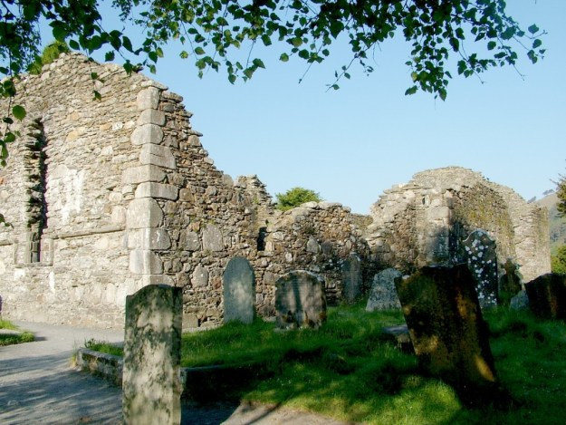 Glendalough Cathedral - view of rightside - Ireland