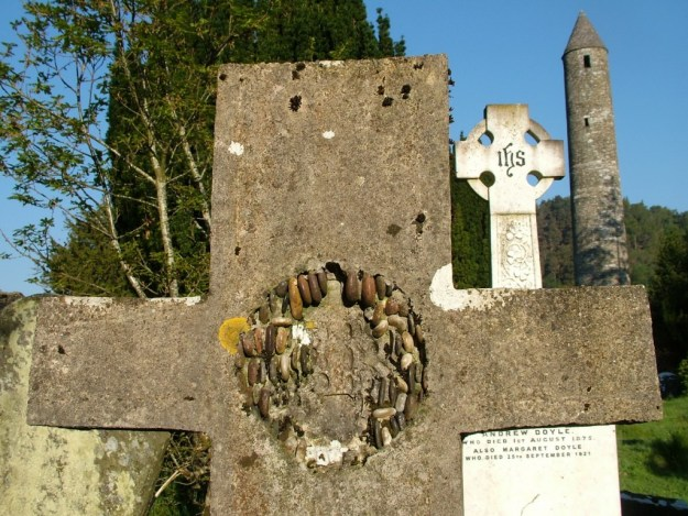 Gravestones and The Round Tower - Glendalough - Ireland