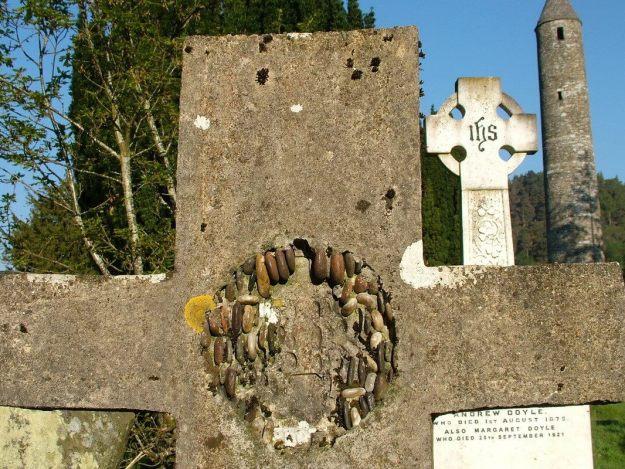 Gravestones and The Round Tower - Glendalough - Ireland