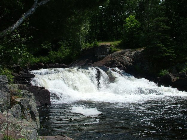 Marsh's Falls in the summer time on the Oxtongue river - April 20 2013