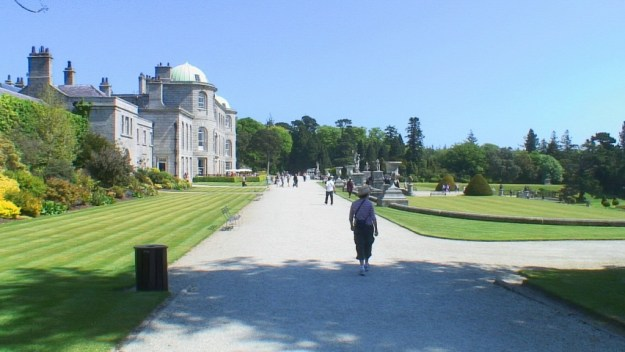 Powerscourt - Jean walks on the Upper Terrace - Ireland