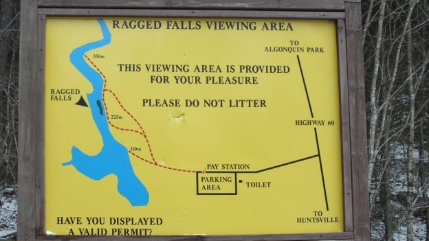 Ragged Falls - map - Oxtongue River - Ontario - April 20 2013