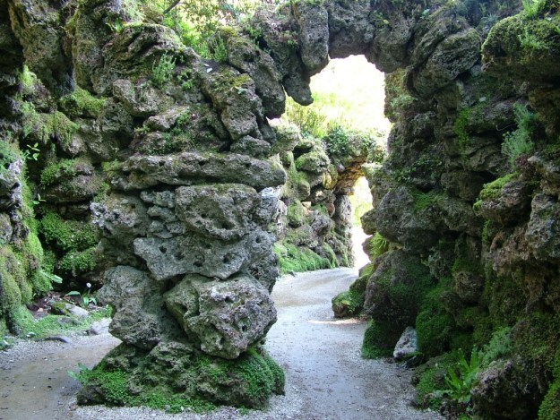 rock in the japanese gardens - powerscourt - ireland