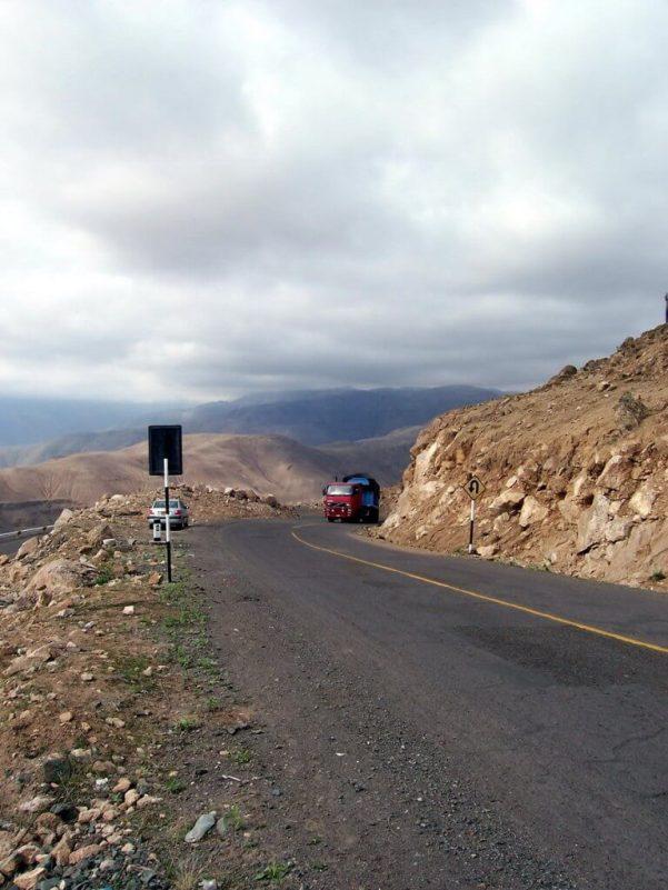 Hills alongside highway 26 near Nazca, Peru