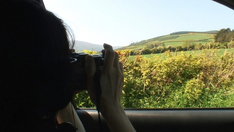 Jean takes a picture of Sugar Loaf Mountain - - Wicklow - Ireland