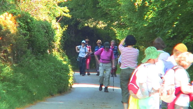 Jean takes a picture of hikers - Wicklow - Ireland