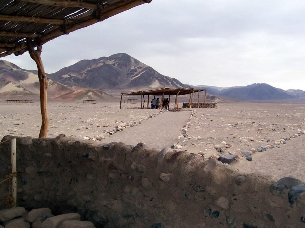 Chauhilla Cemetery south of the city of Nazca in Peru, South America.
