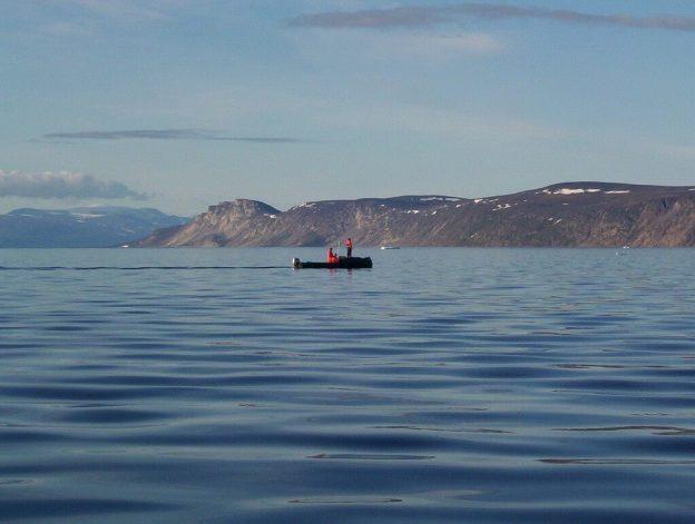 arctic ocean off baffin island - east coastline - nunavut - canada