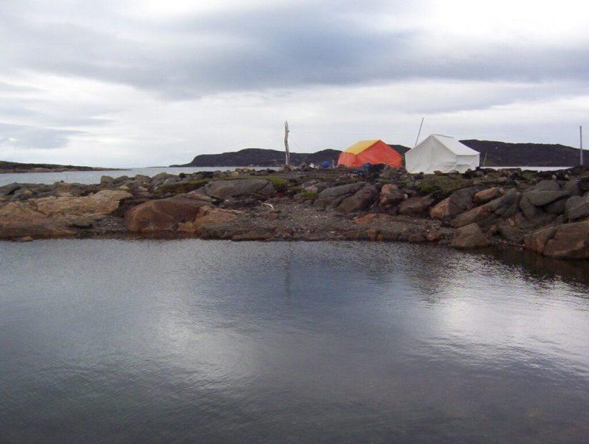 campsite - kerkerten island - nunavut - canada
