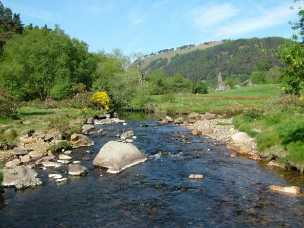 glendalough stream - wicklow mountains national park - ireland