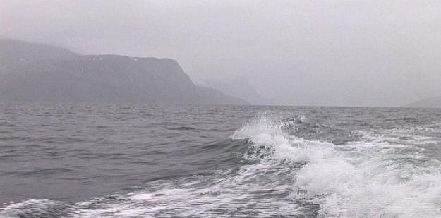grey skies - pangnirtung fjord - baffin island - nunavut