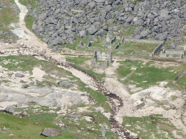 miners village ruins - glendalough - wicklow mountains - ireland
