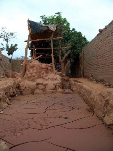 Gold processing pit in Nazca, Peru