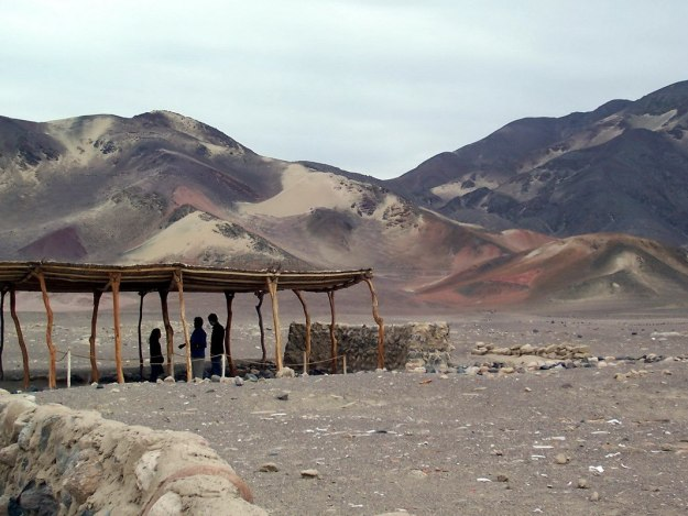 The Chauhilla Cemetery in the desert near Nazca in Peru, South America.