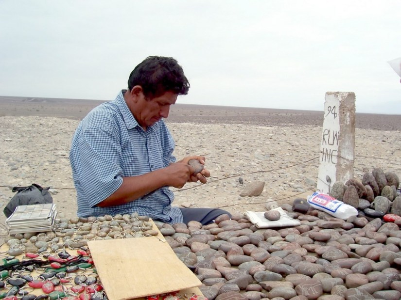 rock carver - nazca lines - peru - south america
