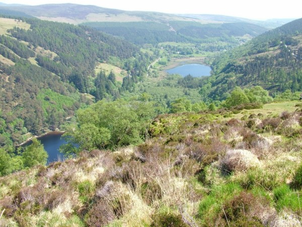 upper and lower lakes - glendalough - wicklow - ireland