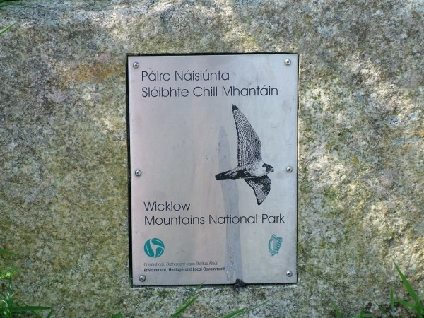 An image of the national parks sign for Wicklow Mountains National Park in County Wicklow, Ireland.  Photography by Frame To Frame - Bob and Jean.