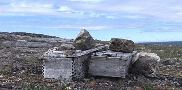 wooden coffins on kekerten island - nunavut