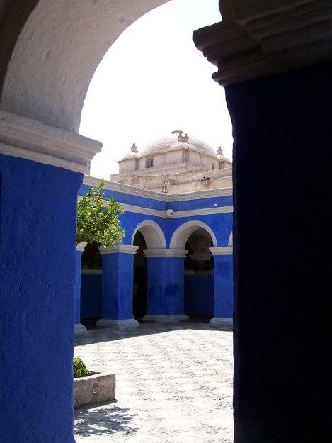 Corner of Orange Tree Cloister, Arequipa, Peru