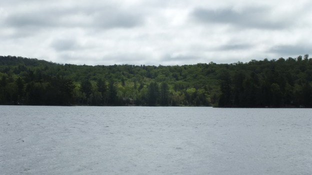 oxtongue lake - cloudy sky in spring - ontario