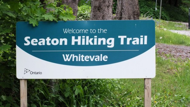 seaton hiking trail sign - whitevale - ontario