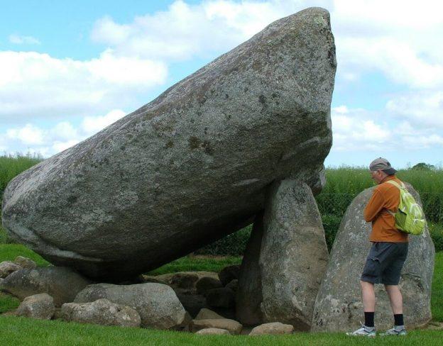 bob checks out the brownshill portal tomb - county carlow - ireland