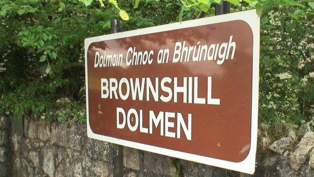 brownshill dolmen sign - county carlow - ireland