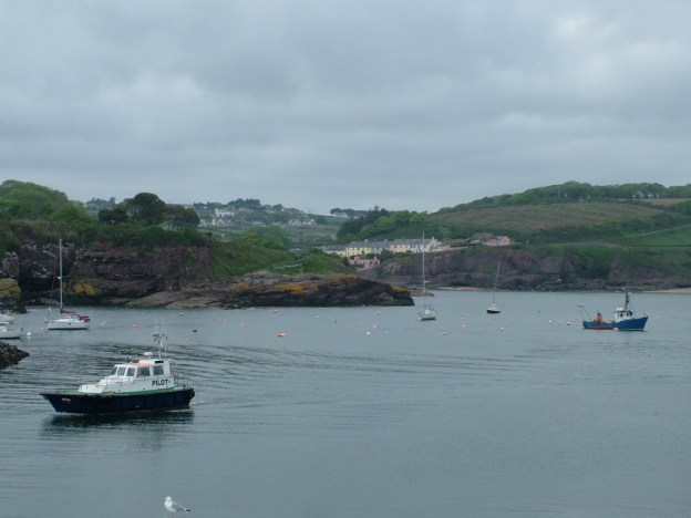 dunmore east harbour in county waterford - ireland