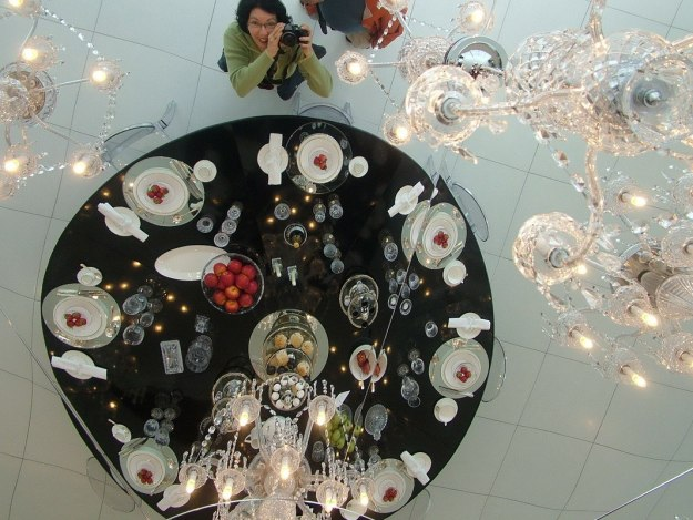 jean takes a pic at house of waterford crystal - waterford - ireland
