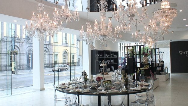 An image of the main showroom inside the House of Waterford Crystal in Waterford, Ireland. Photography by Frame To Frame - Bob and Jean