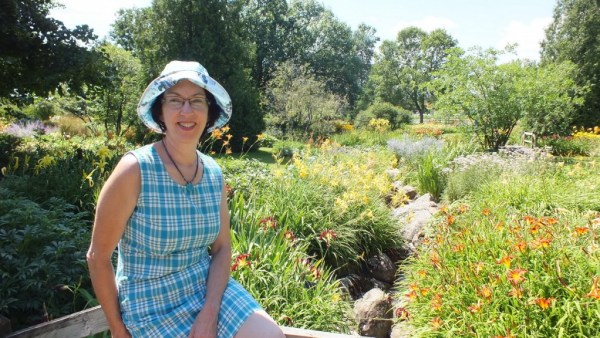Jean in the Daylily garden - Montreal Botanical Garden - Frame To Frame Bob & Jean