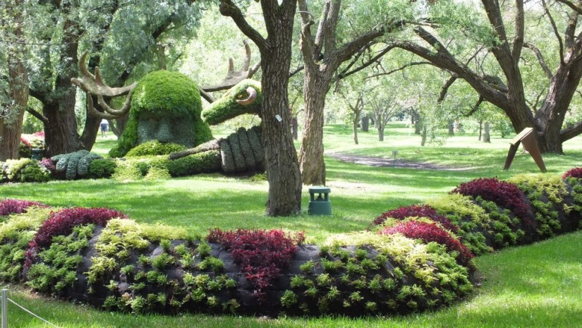 Spirits of the Wood - Cernunnos - Mosaiculture - Montreal Botancial Gardens